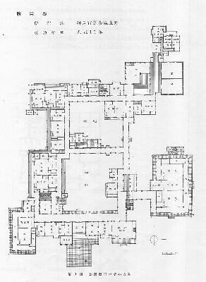 勝田新邸平面計画図