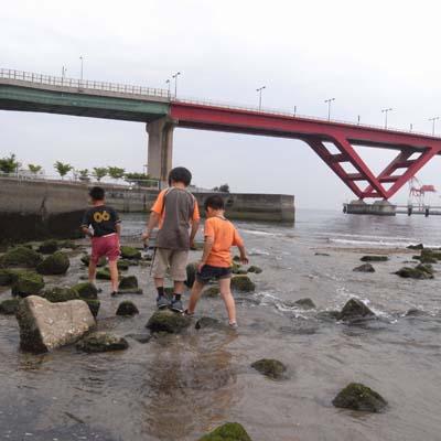 大石川河口付近