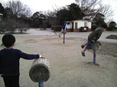 丸山公園の馬跳び