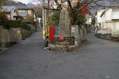 左が参道、右に行けば駐車場。