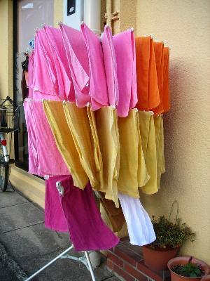 美容院フジマルのタオル。色の違いがいい感じ。