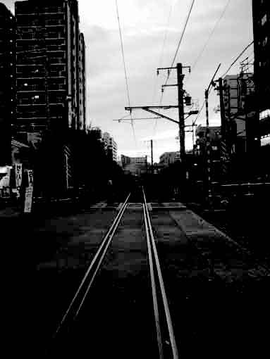 神戸臨港線踏切(2003年12月)