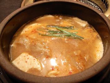かじわら「純豆腐(すんどうふ)鍋定食」