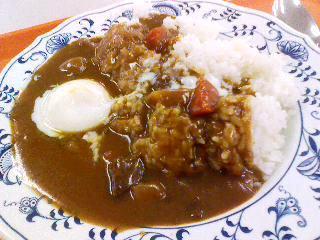 神戸大学発達科学部食堂「温泉卵カレー」