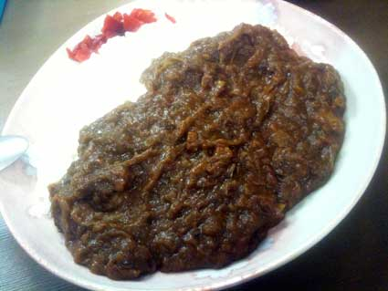 甘辛カレーきてたもんせ「紅玉と野菜の無水カレー」