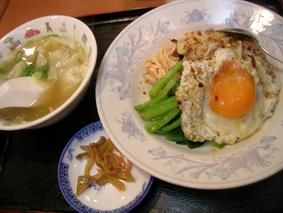 東亜食堂「蒸し鶏飯定食」