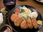 とんかつ富義「一口カツ定食(ヒレかつ)」