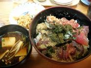 大しま「鉄火丼定食」