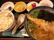 椿寿亭「そば定食」