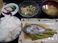馬場「煮魚定食」
