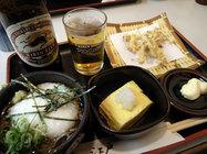 江戸そば「ビールセット」