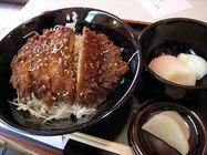 江戸そば「ソースかつ丼」