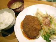 レストランプチ「カニクリームコロッケ定食」